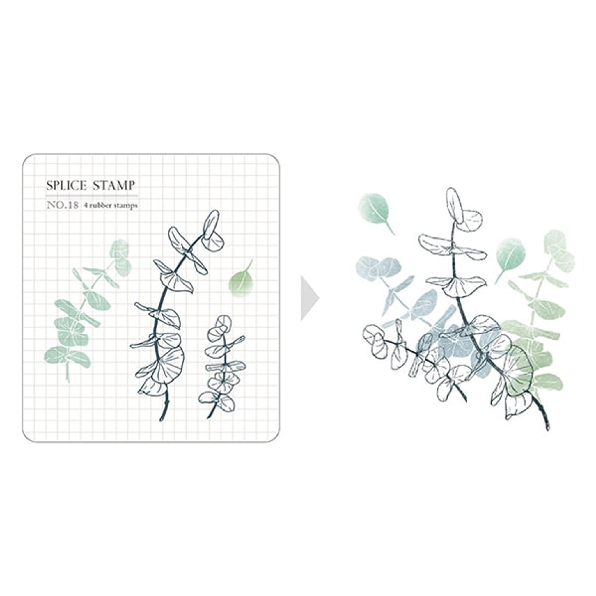 MU Craft Clear Splice Stamp Botanical 18