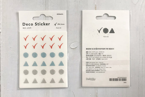 DailyLike Deco Sticker Point 01