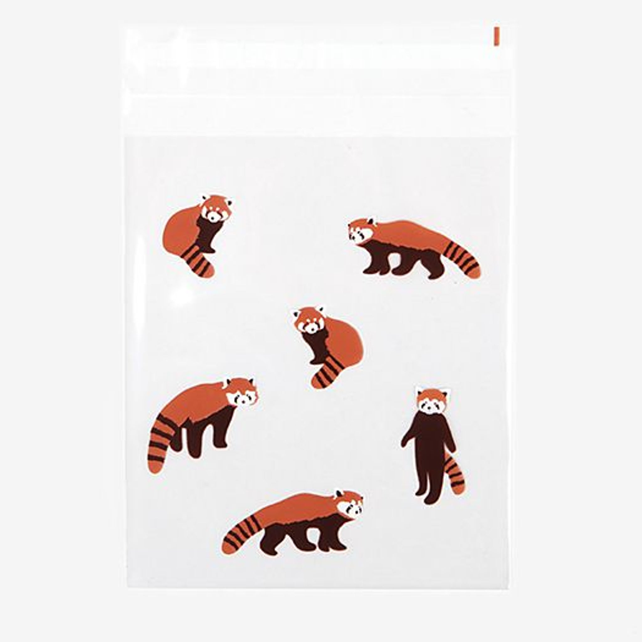 DailyLike Lesser Panda Medium Clear Gift Bag