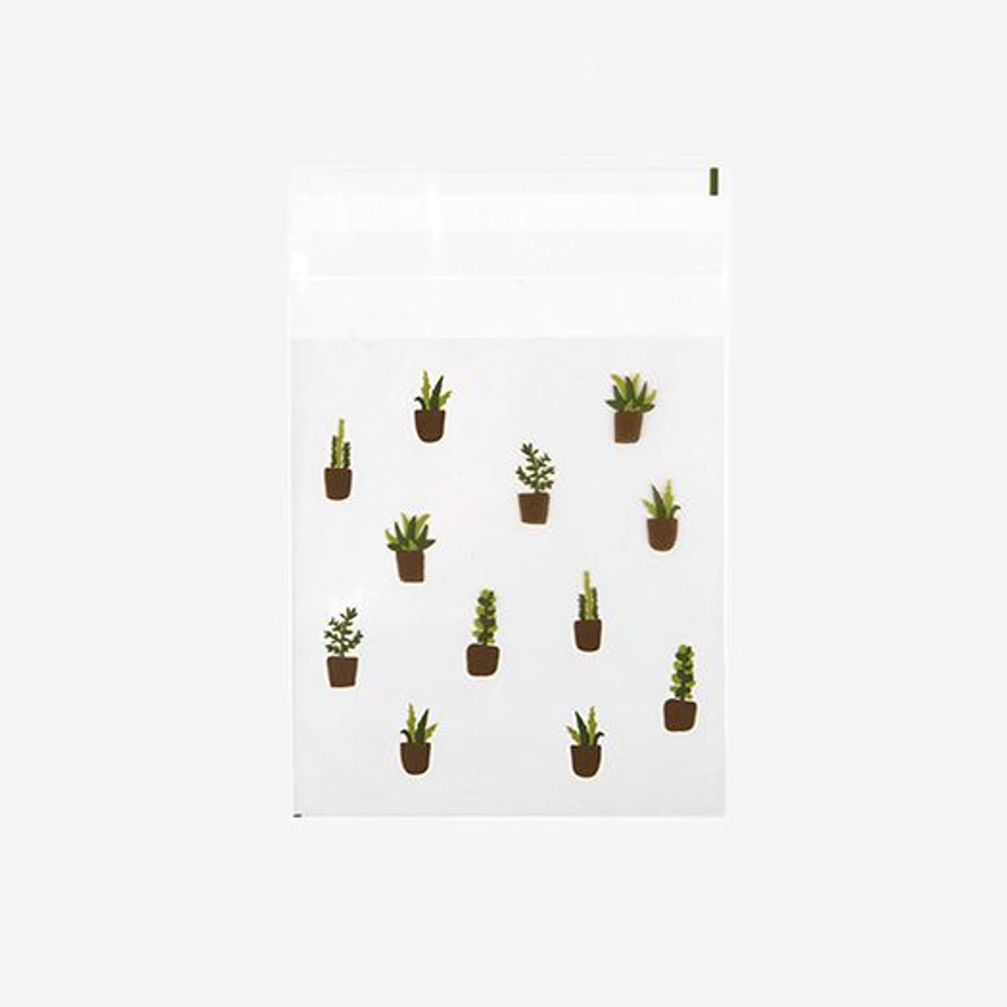 DailyLike Succulent Small Clear Gift Bag
