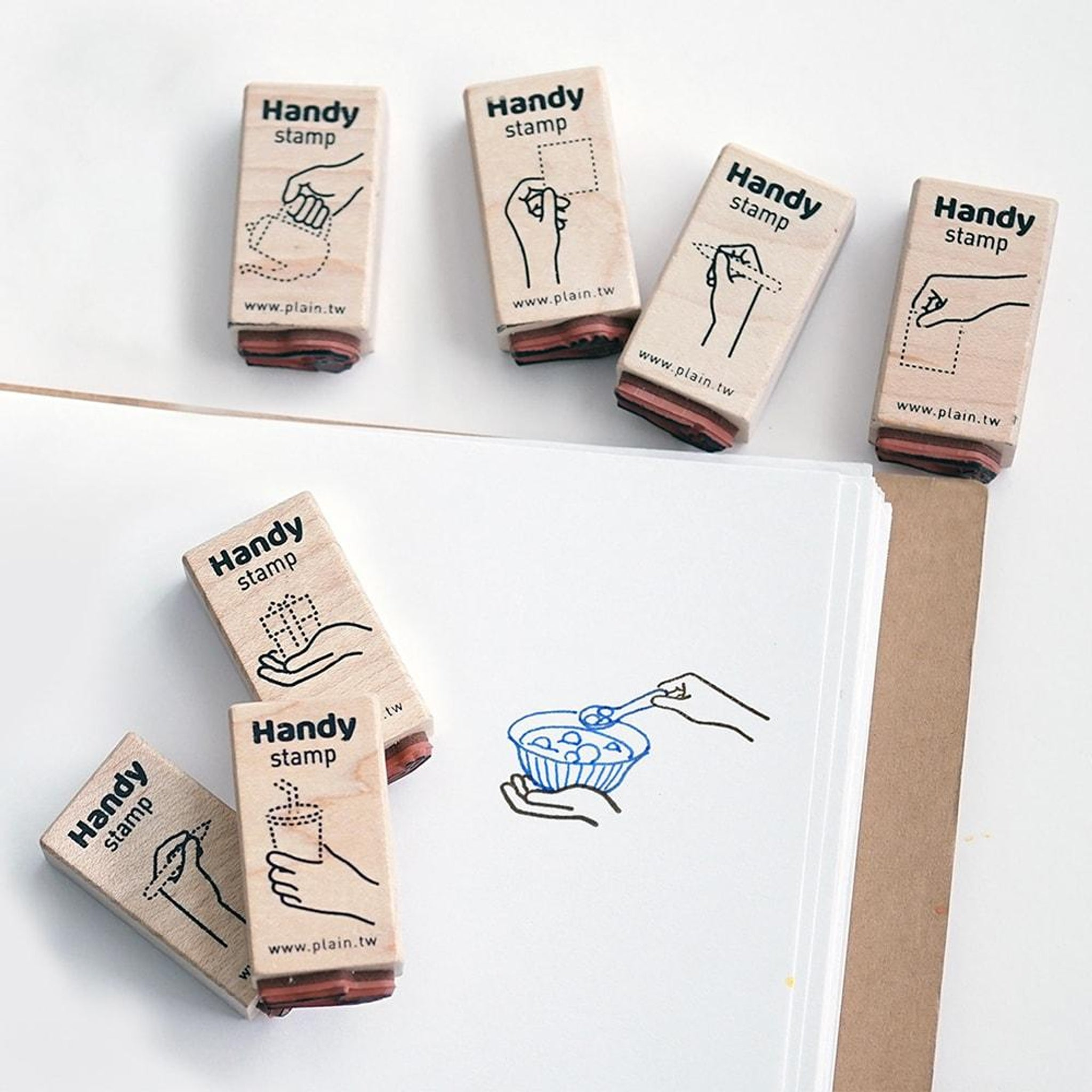 Plain Stationery Handy Stamp - A