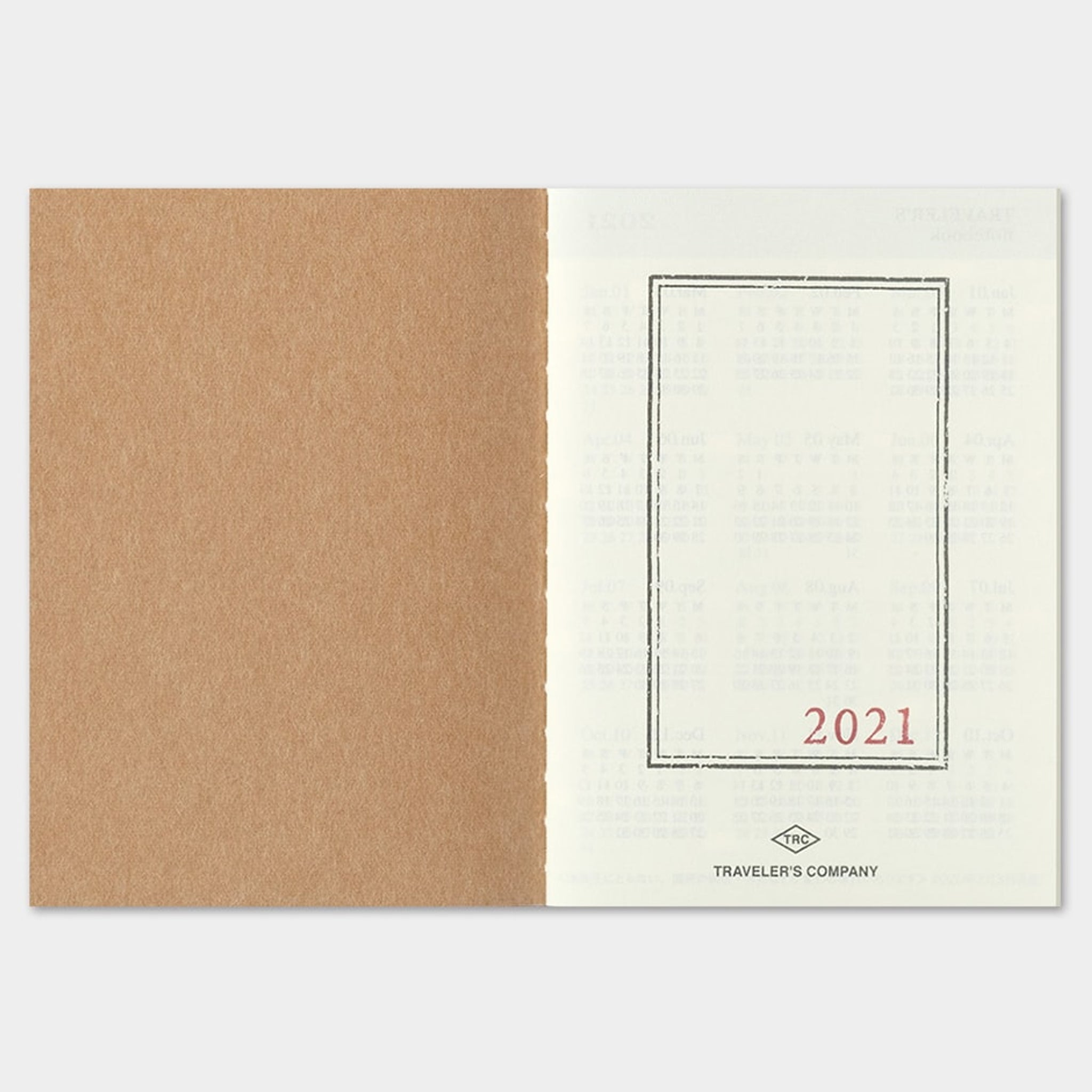 Pre-order Traveler's Notebook 2021 Refill (Passport Size) Monthly