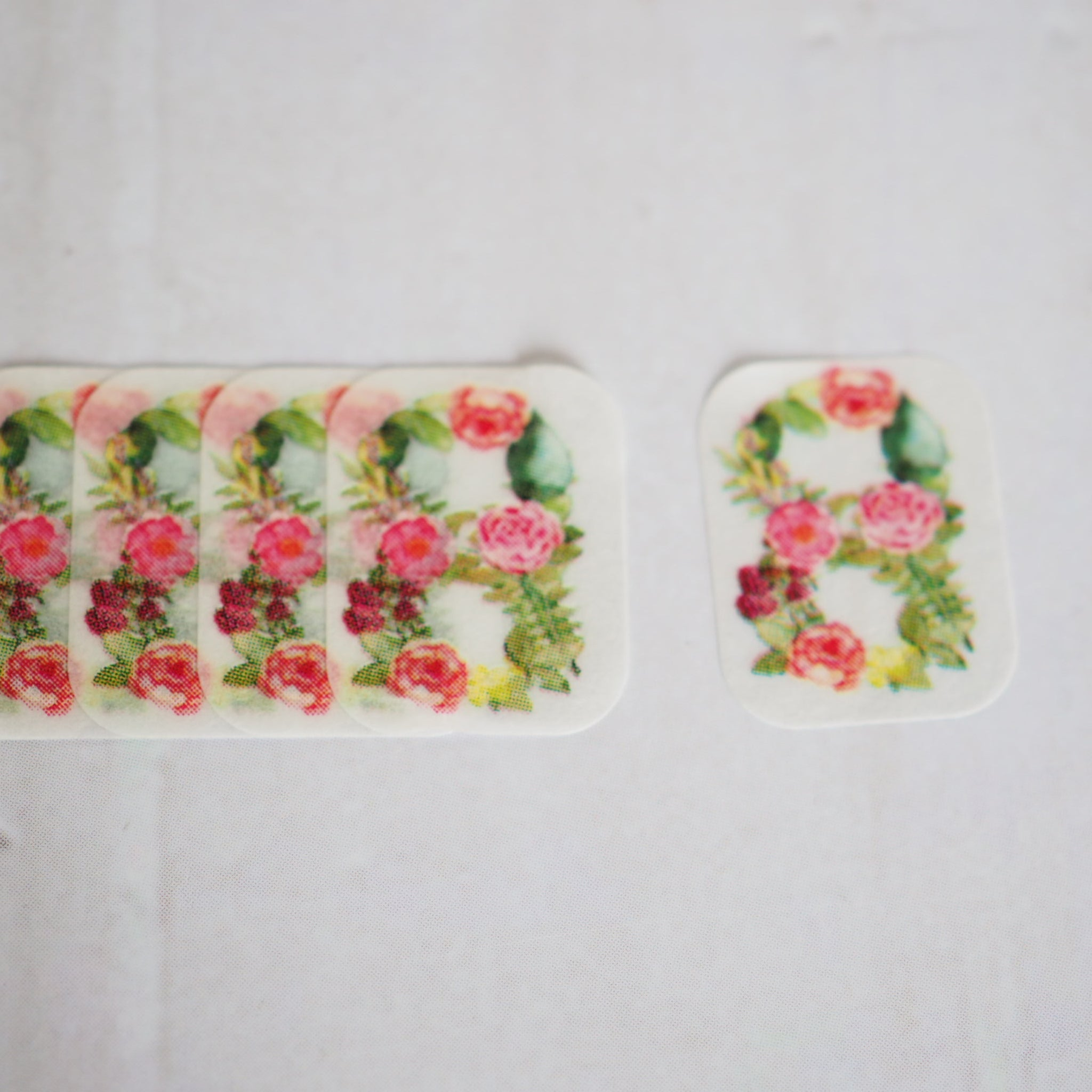 Bande Flower Number 8 Mini Washi Roll Sticker