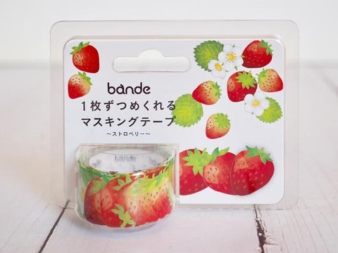 Bande Strawberry Washi Roll Sticker (BDA283) | Washi Wednesday