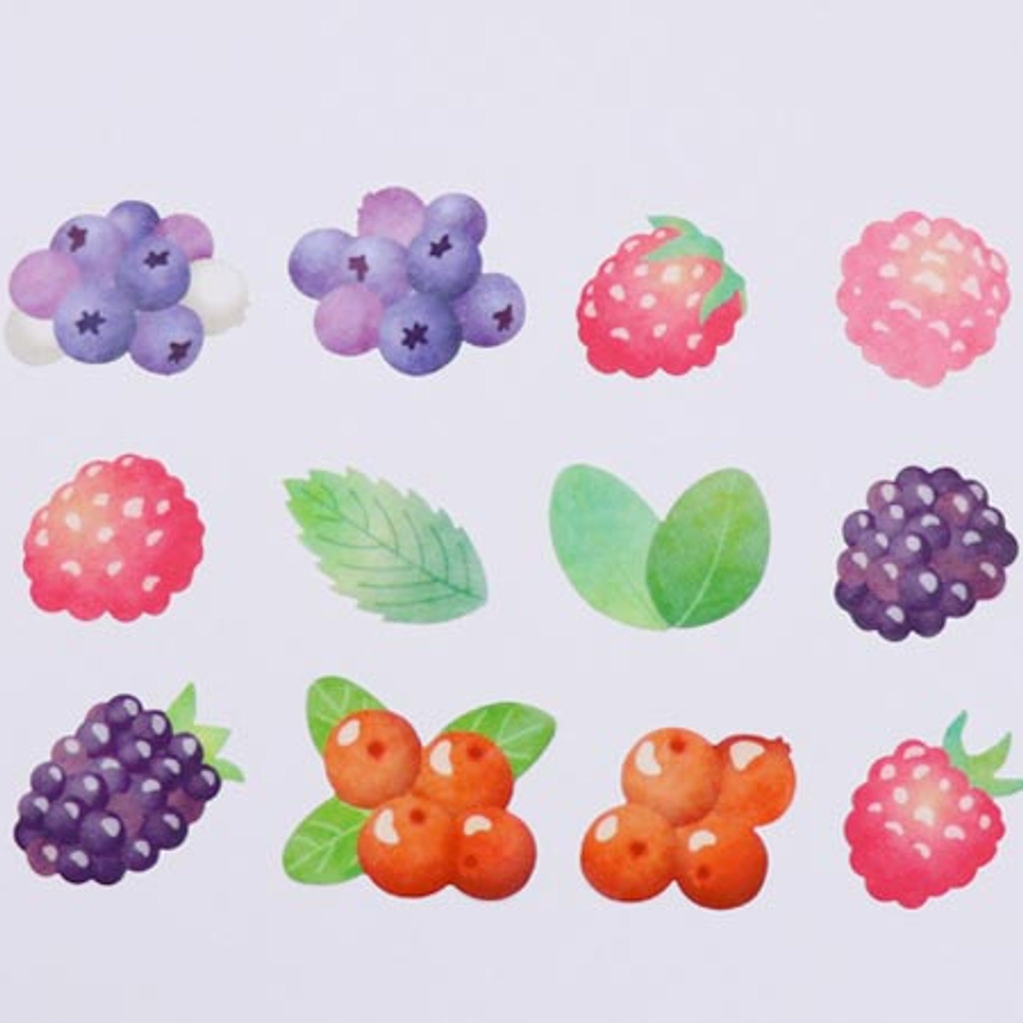 Bande Mixed Berry Washi Roll Sticker