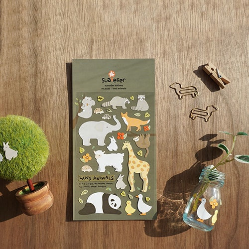 Suatelier Land Animals Sticker