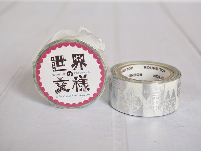 Round Top x Material Michemon Scandinavia (Silver Foil) Washi Tape (MM-MK-023) | Washi Wednesday