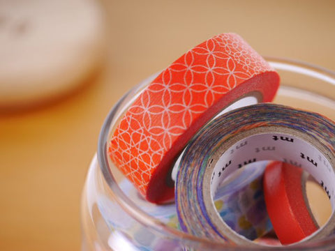 mt Line Pattern Red washi tape