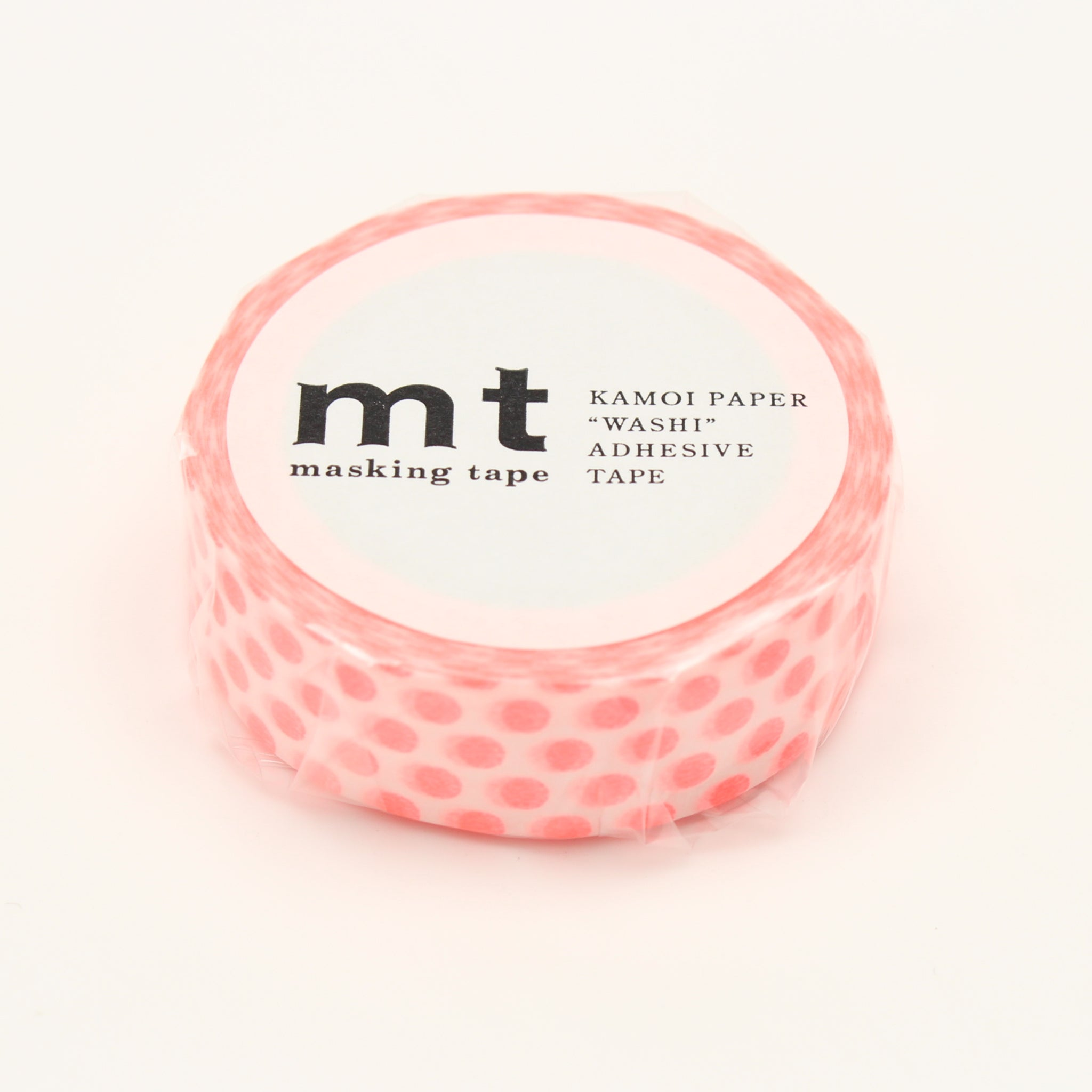 MT Deco Washi Tape Dot Shocking Red