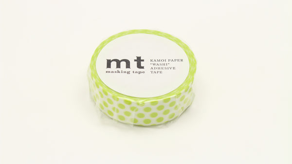 MT Dot Lime washi tape (MT01D362)