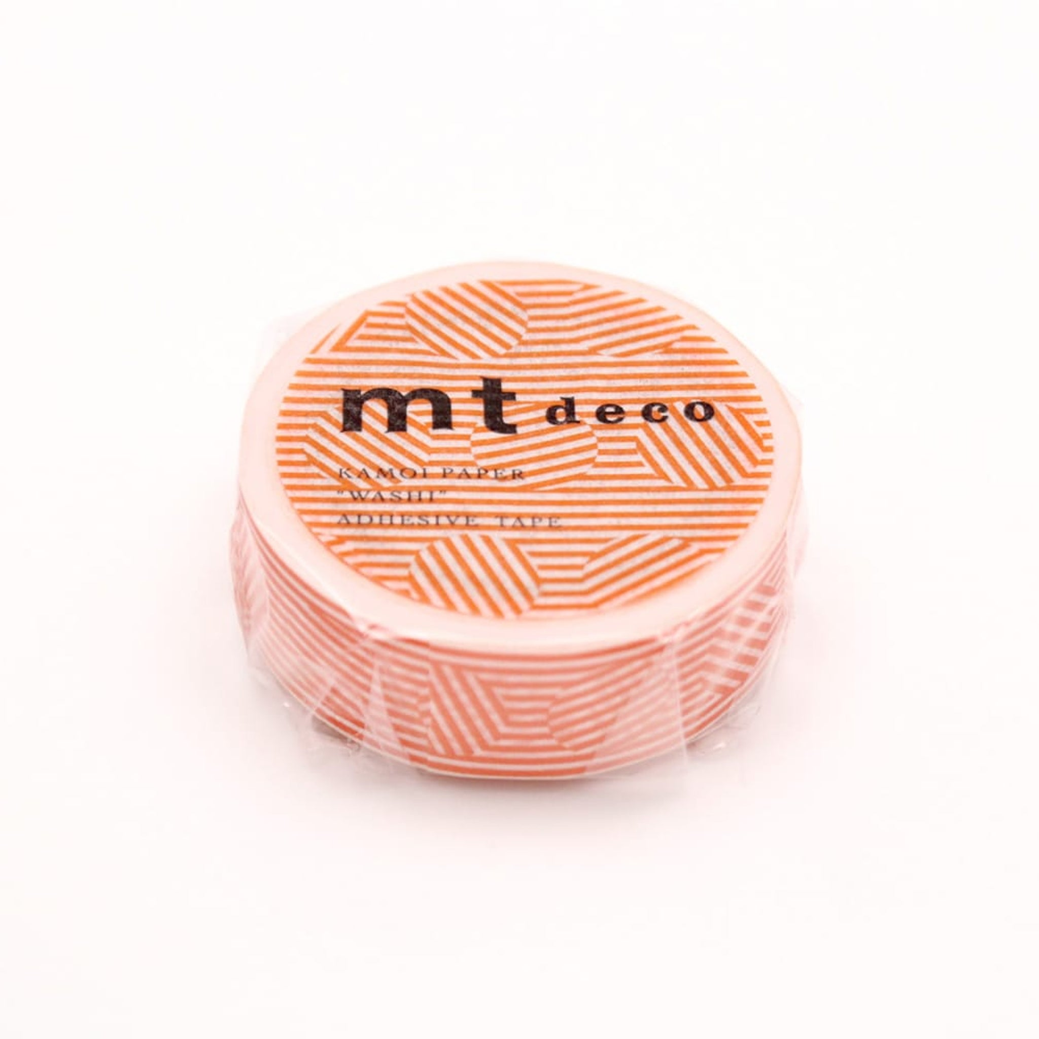 MT Deco Washi Tape Border & Circle Orange