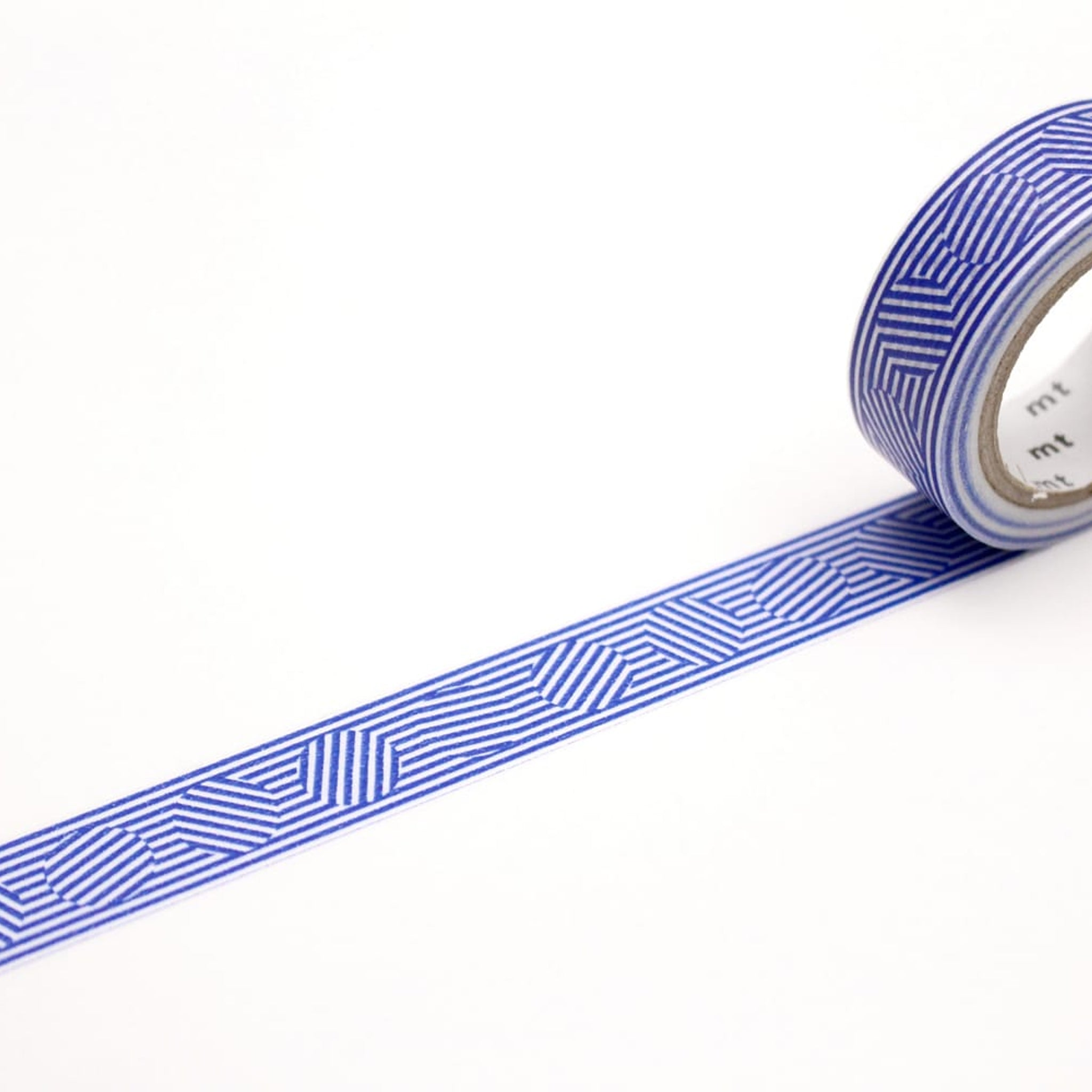 MT Deco Washi Tape Border & Circle Blue