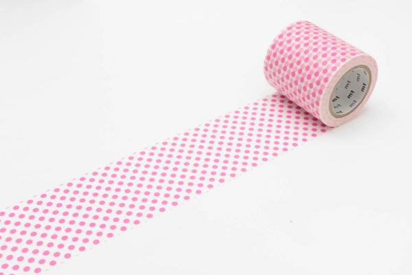mt Casa 50mm Dot Pink wide washi tape (MTCA5067) | Washi Wednesday