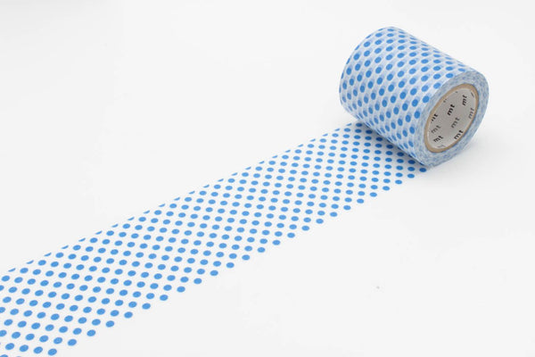 mt Casa 50mm Dot Blue wide washi tape (MTCA5068) | Washi Wednesday