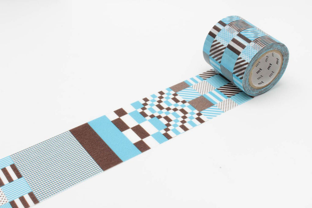mt Casa 50mm Mix Blue wide washi tape (MTCA5078) | Washi Wednesday
