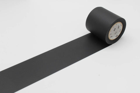 mt Casa 50mm Matte Black wide washi tape