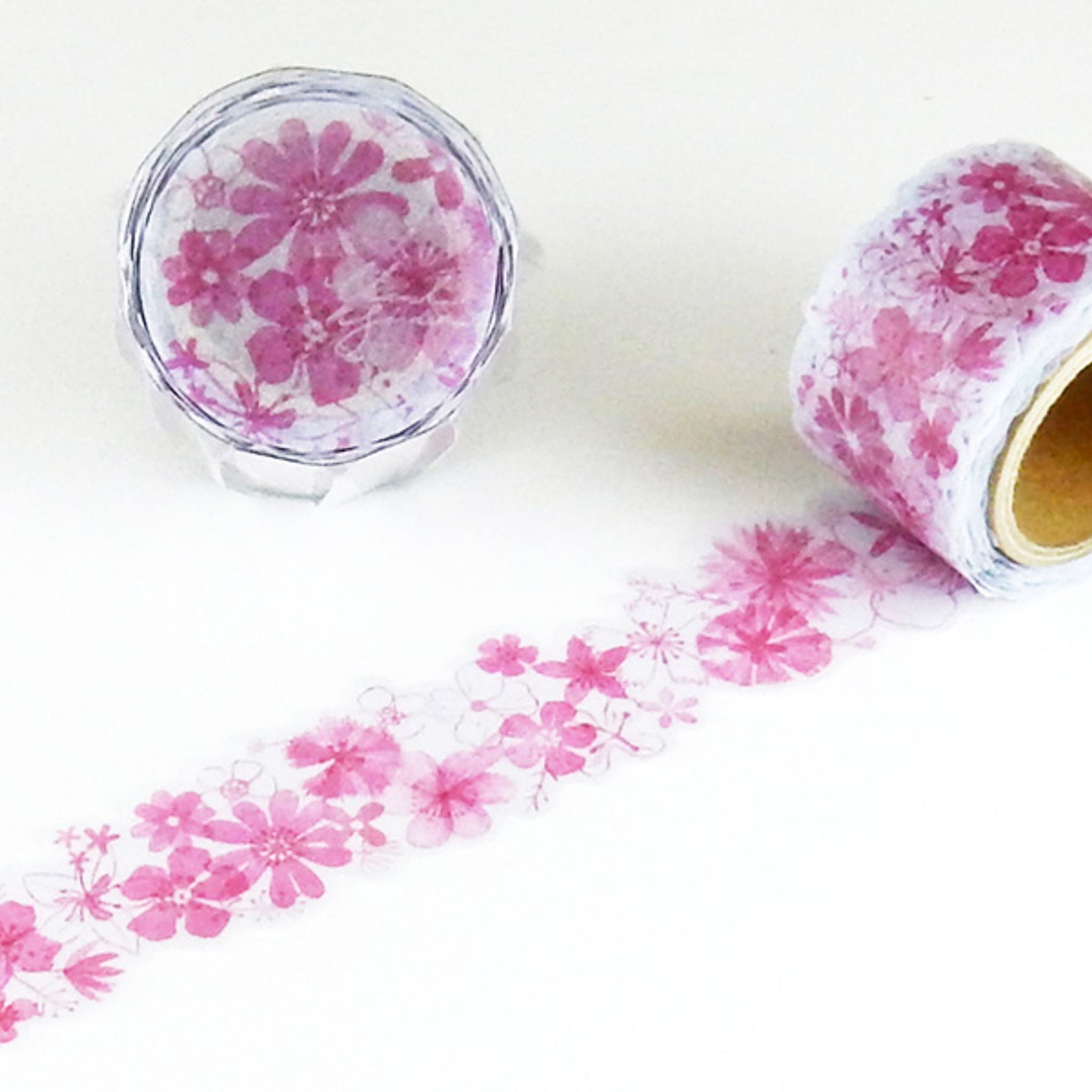 Round Top x ChamilGarden Flower Red Washi Tape