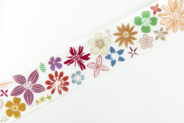 Round Top x ChamilGarden Color Flower Washi Tape