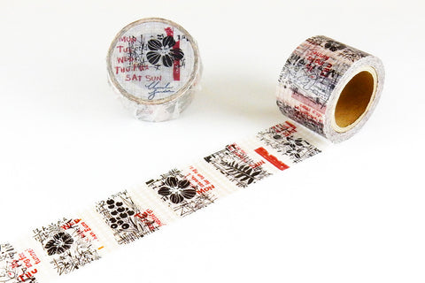 Round Top x ChamilGarden Nichiyou Flower Washi Tape