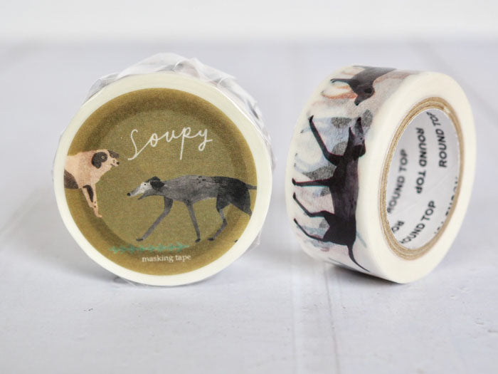 Round Top x Soupy Tang Dog Washi Tape (MTW-SP005) | Washi Wednesday