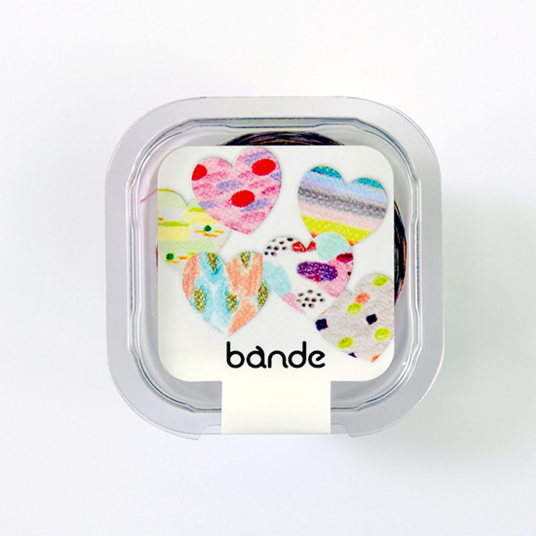 Bande Heart Quatre Mini Washi Roll Sticker
