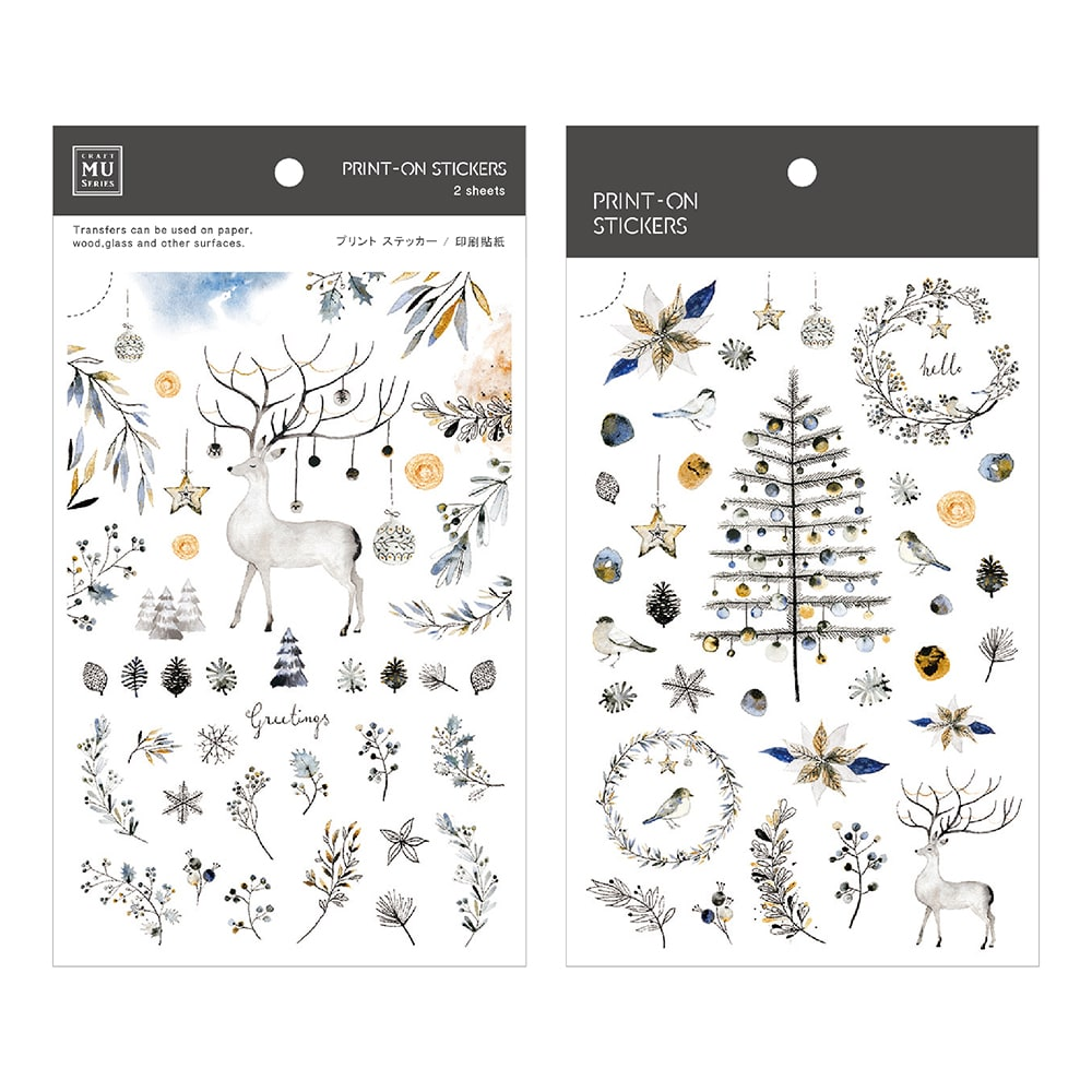 Mu Craft Print-On Sticker Season's Greetings 102