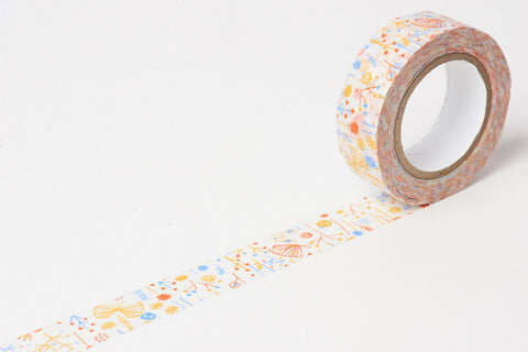 Classiky x Rieko Oka Ten to Sen Bush washi tape