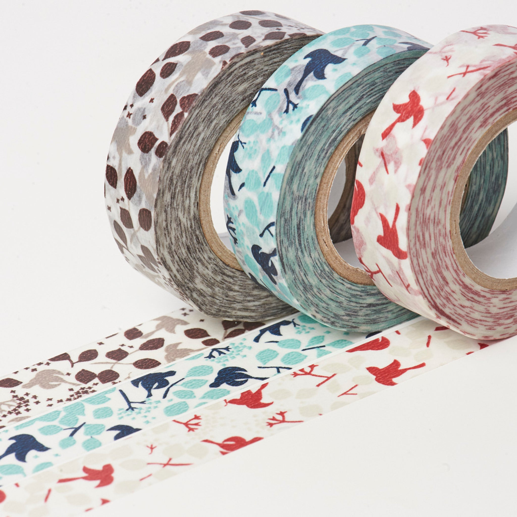 Classiky x Rieko Oka Ten to Sen Message Bird washi tape blue