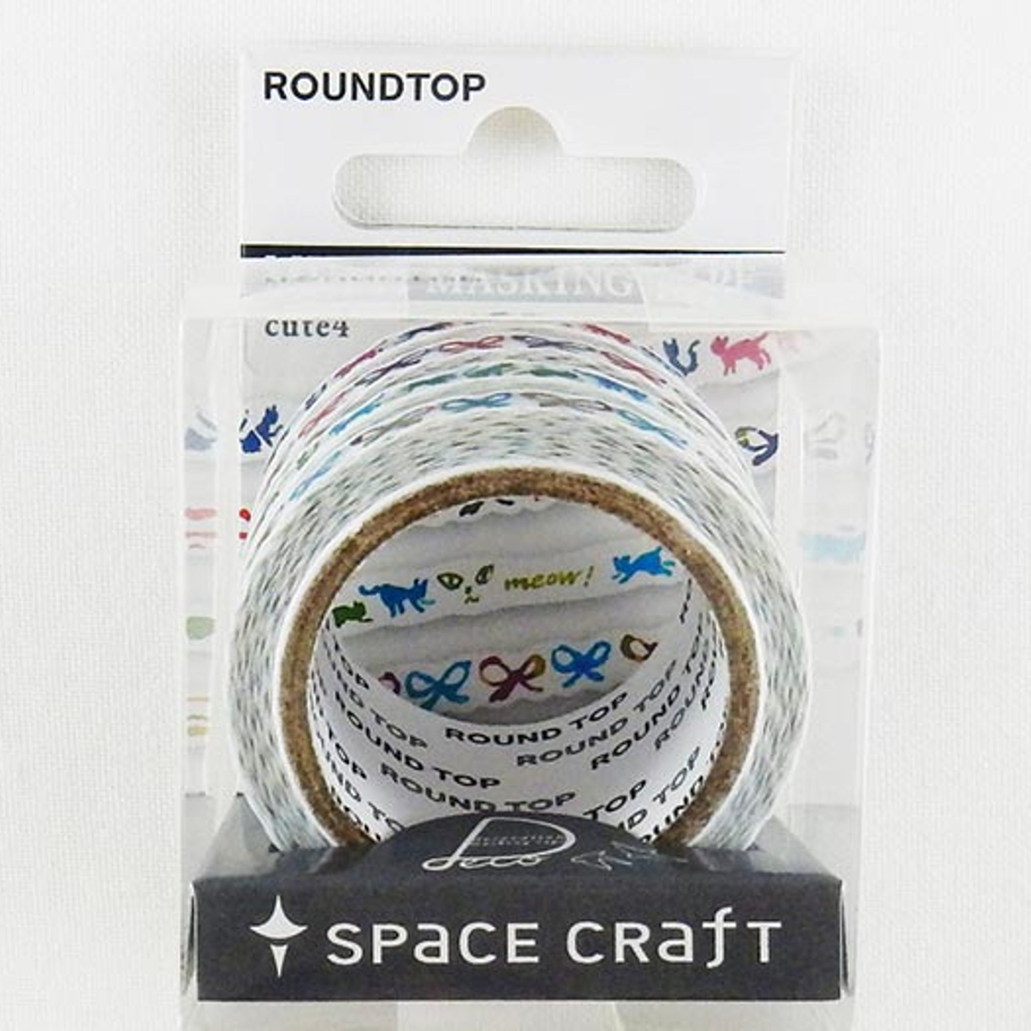 Round Top x Space Craft Washi Tape Set of 4 - Cute