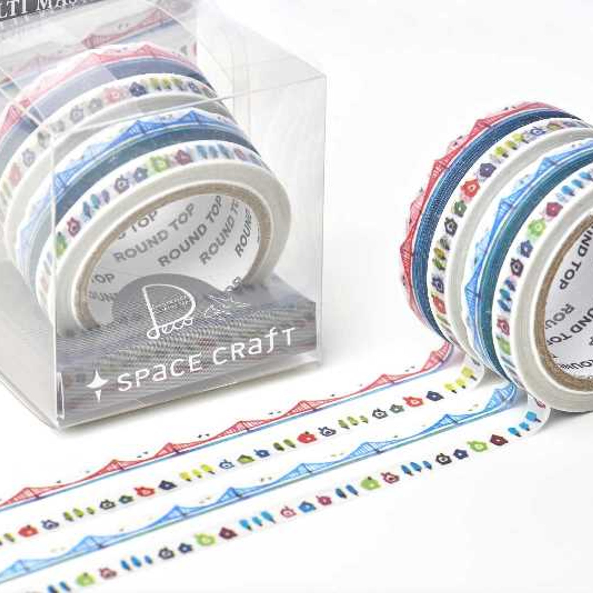 Round Top x Space Craft Washi Tape Set of 4 - Landscape