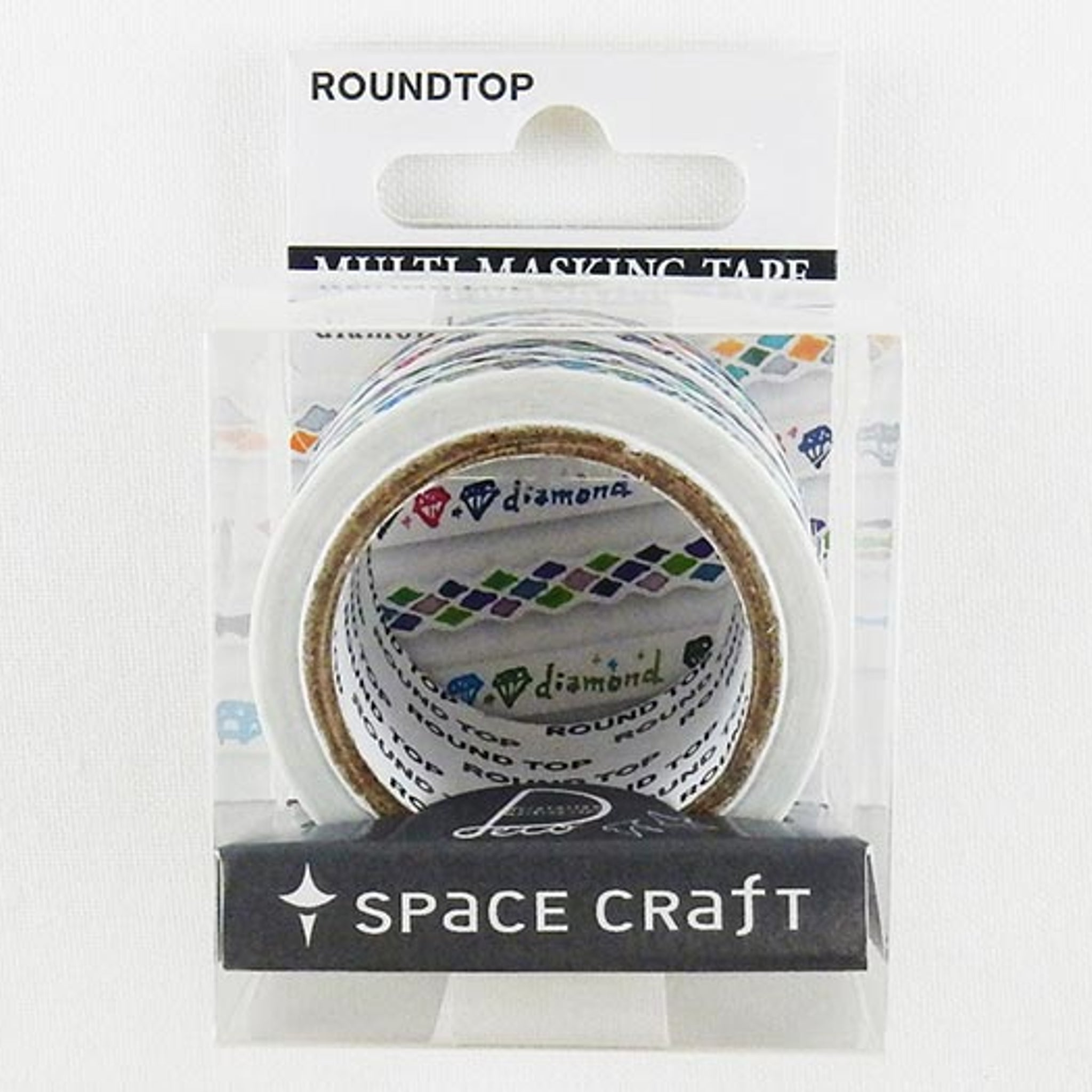 Round Top x Space Craft Washi Tape Set - of 4 Diamond