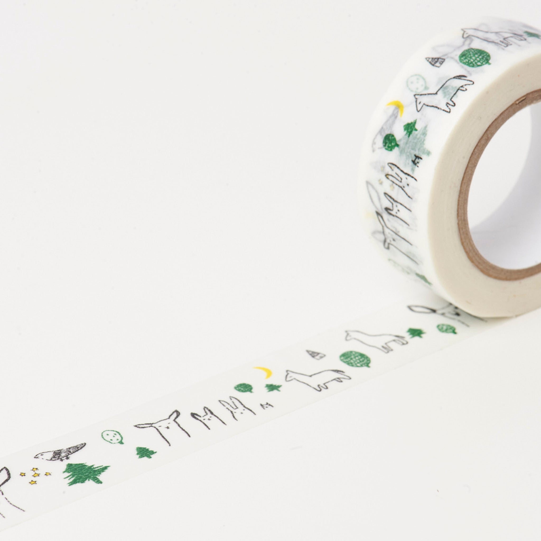 Classiky x Tomomi Irago Forest Washi Tape Black