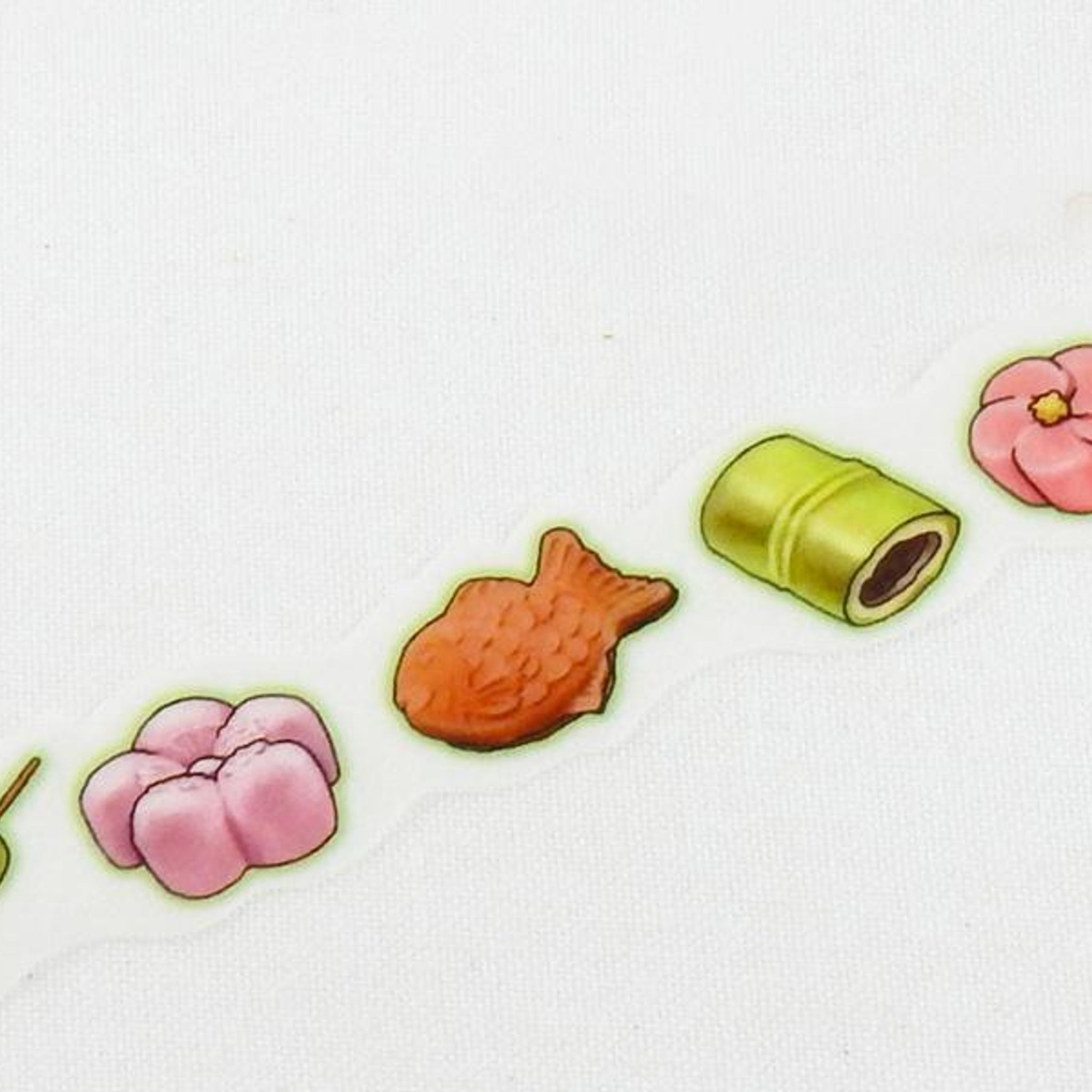 Round Top x Yano Design Japanese sweets washi tape