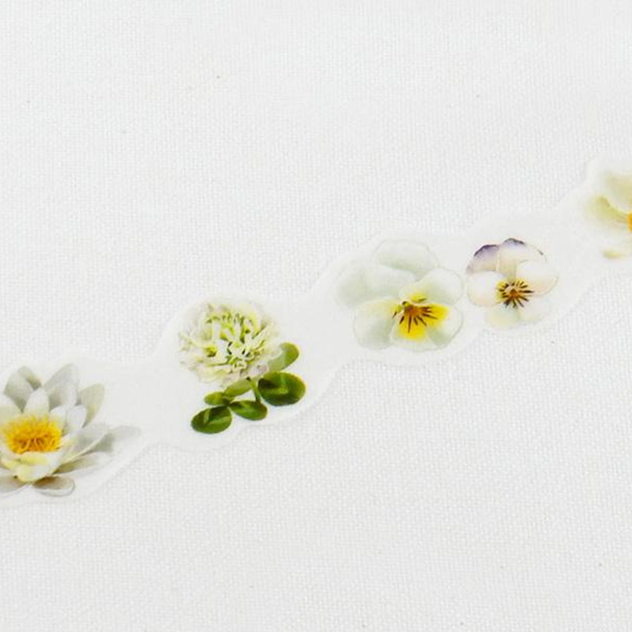 Round Top x Yano Design Flower collage, white  washi tape