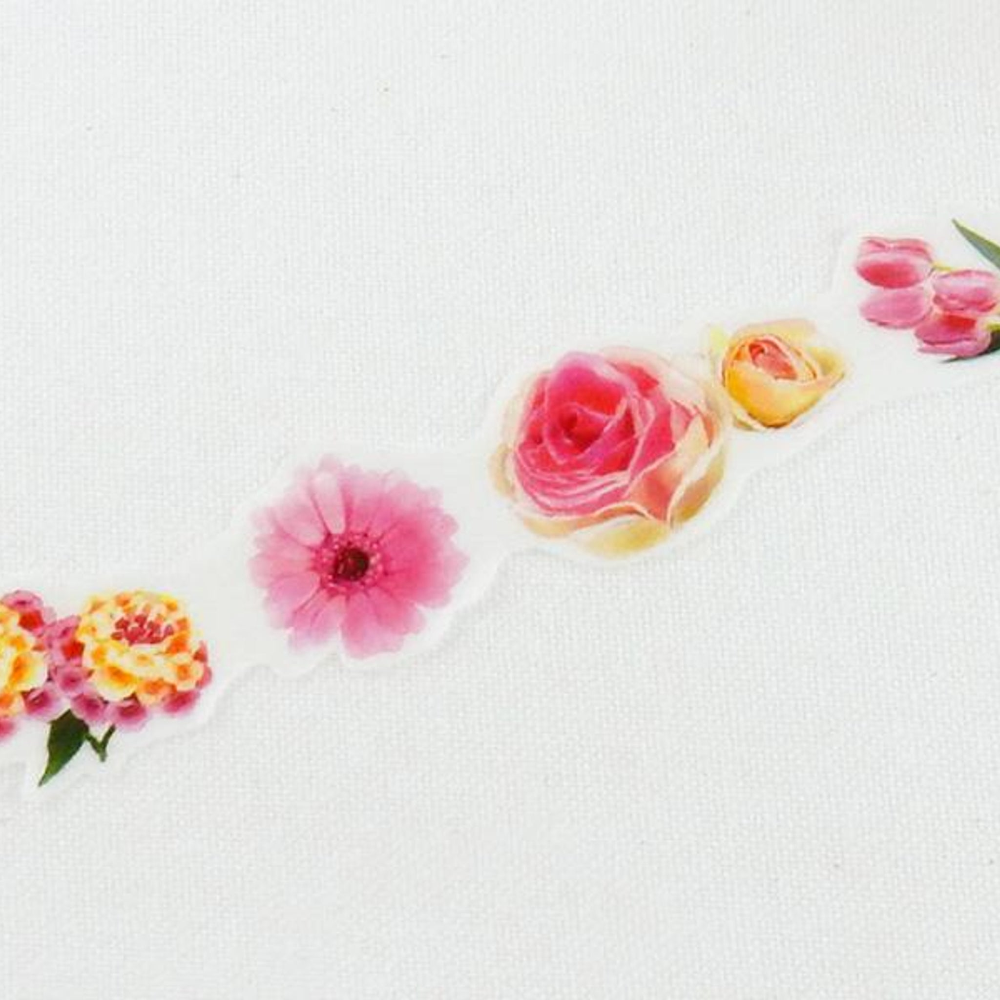 Round Top x Yano Design Flower collage, pink  washi tape