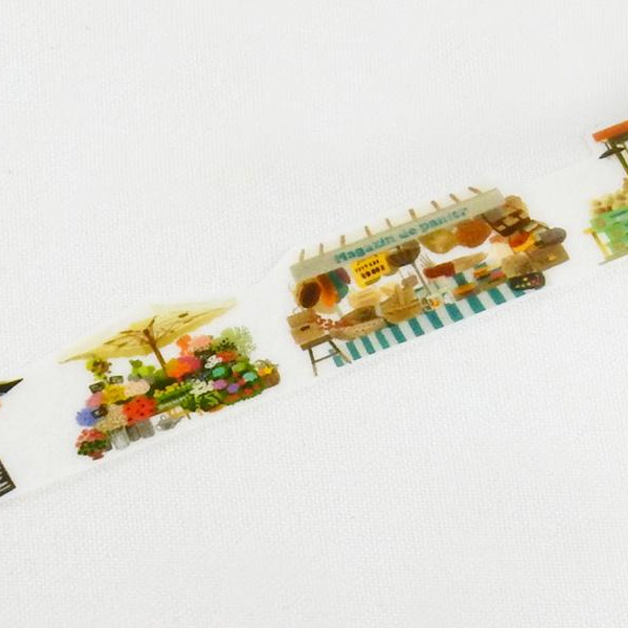 Round Top x Yano Design Autumn, Marche (Market) washi tape