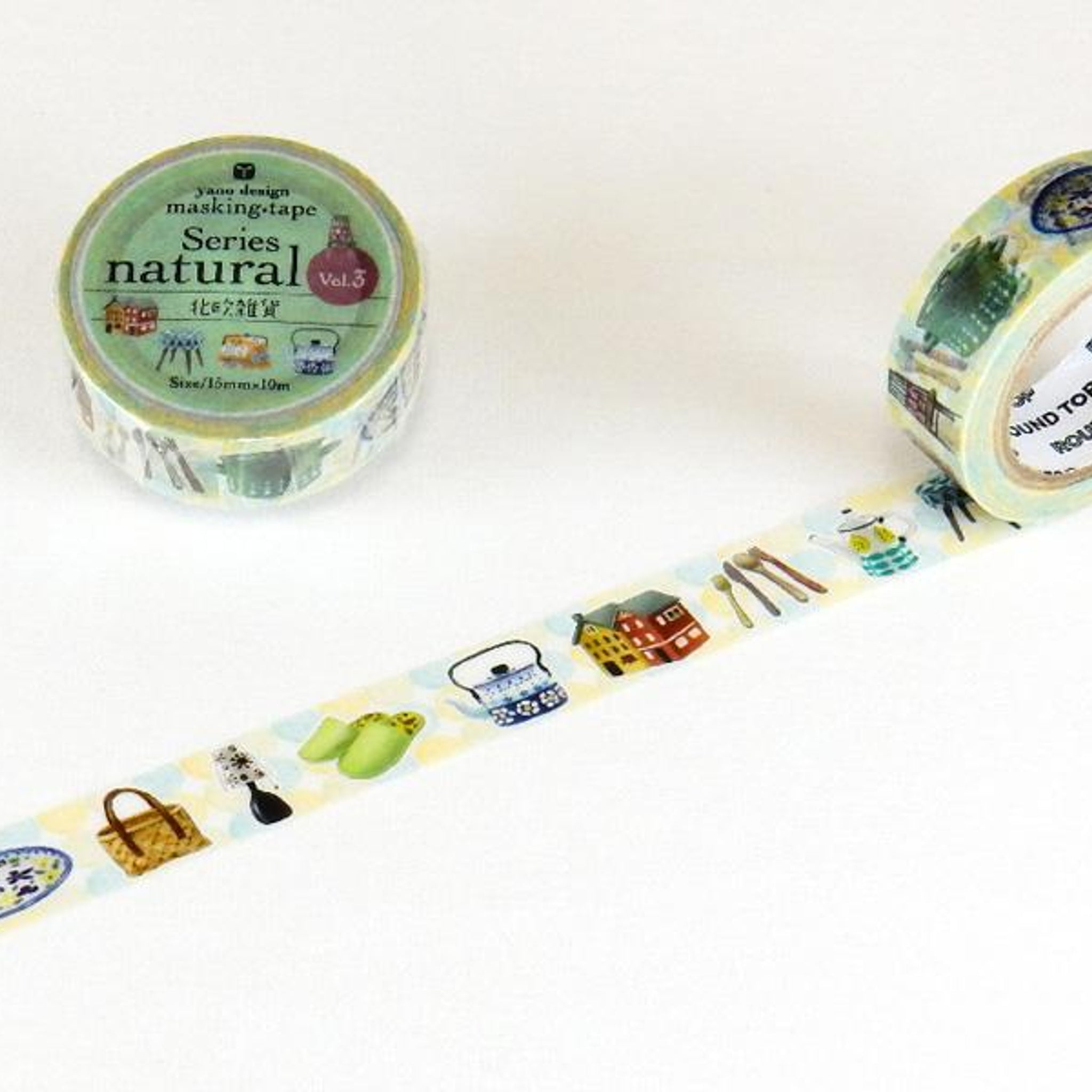 Round Top x Yano Design Scandinavia washi tape