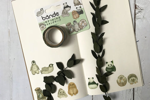 Bande Cute Animal Washi Roll Sticker