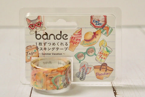 Bande Summer Vacation Washi Roll Sticker