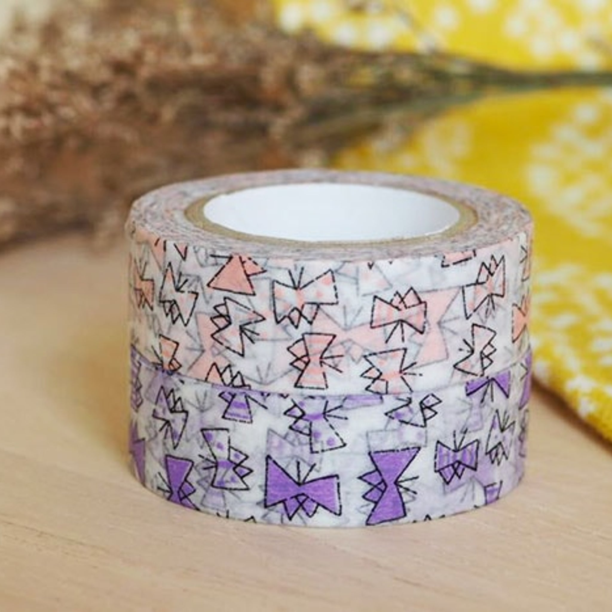 Classiky x Tomomi Irago Butterfly Washi Tape Purple
