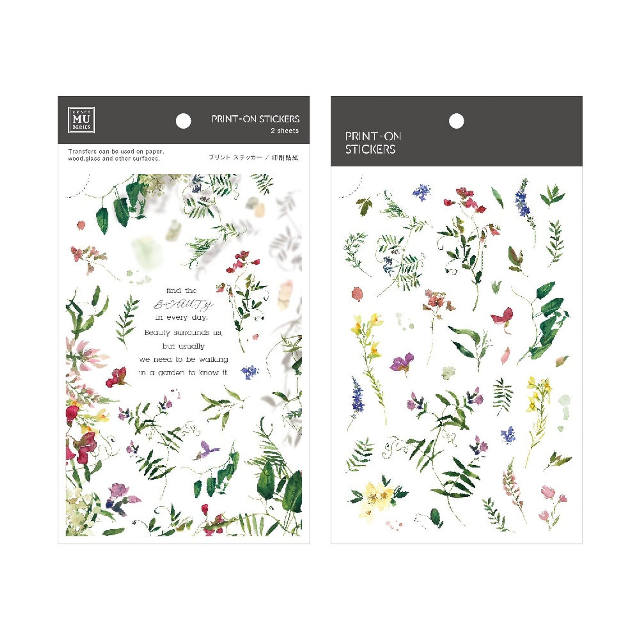 MU Craft Print-On Sticker Wild Flowers 145