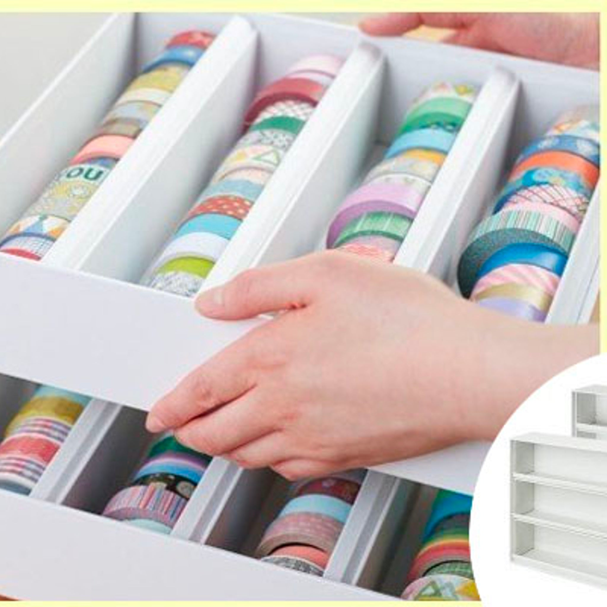 King Jim Washi Tape Storage Case Book-Type