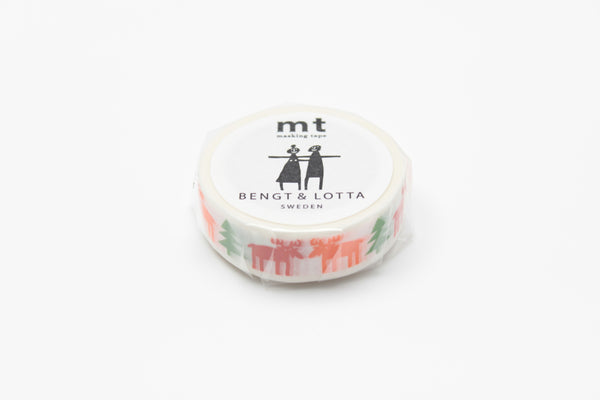 mt x BENGT & LOTTA happy moose washi tape (MTBELO04) | Washi Wednesday