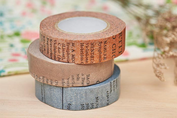 Classiky x Yoko Inoue Old Book washi tape