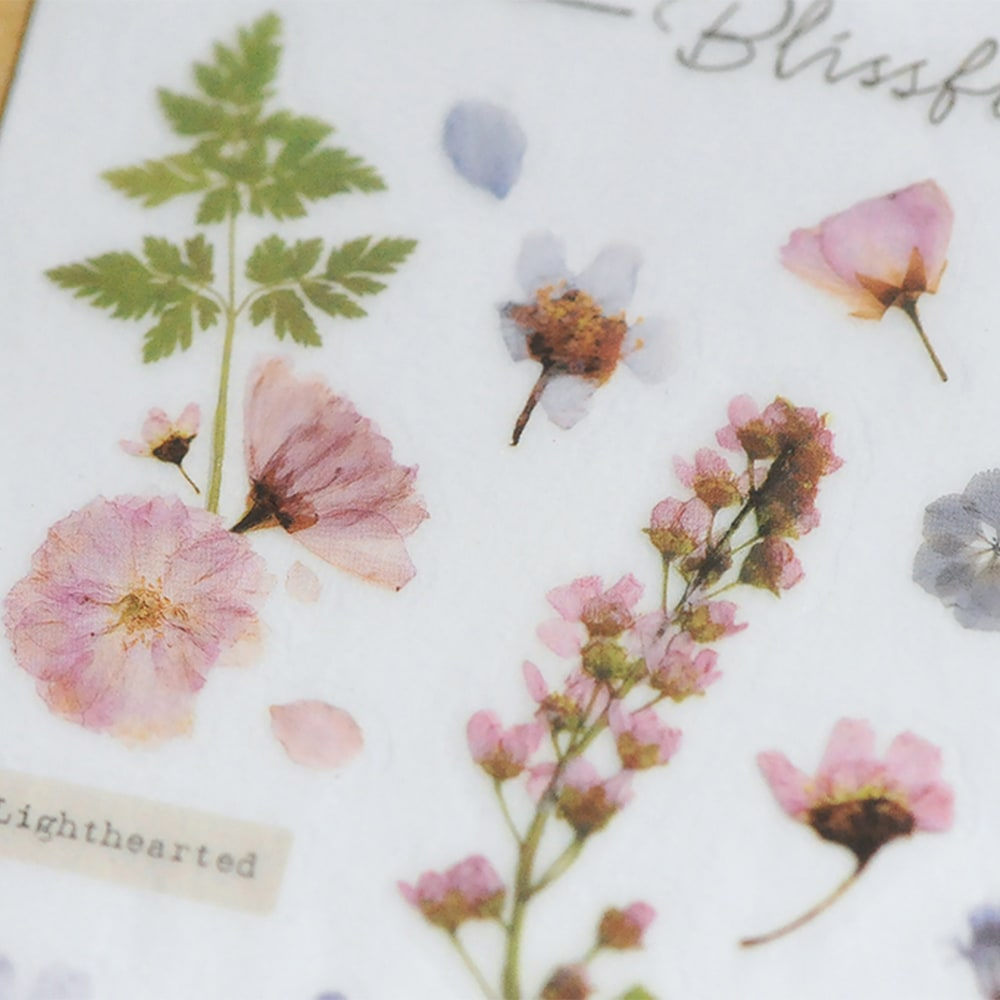 Mu Craft Print-On Sticker Pressed Flower Pink 104