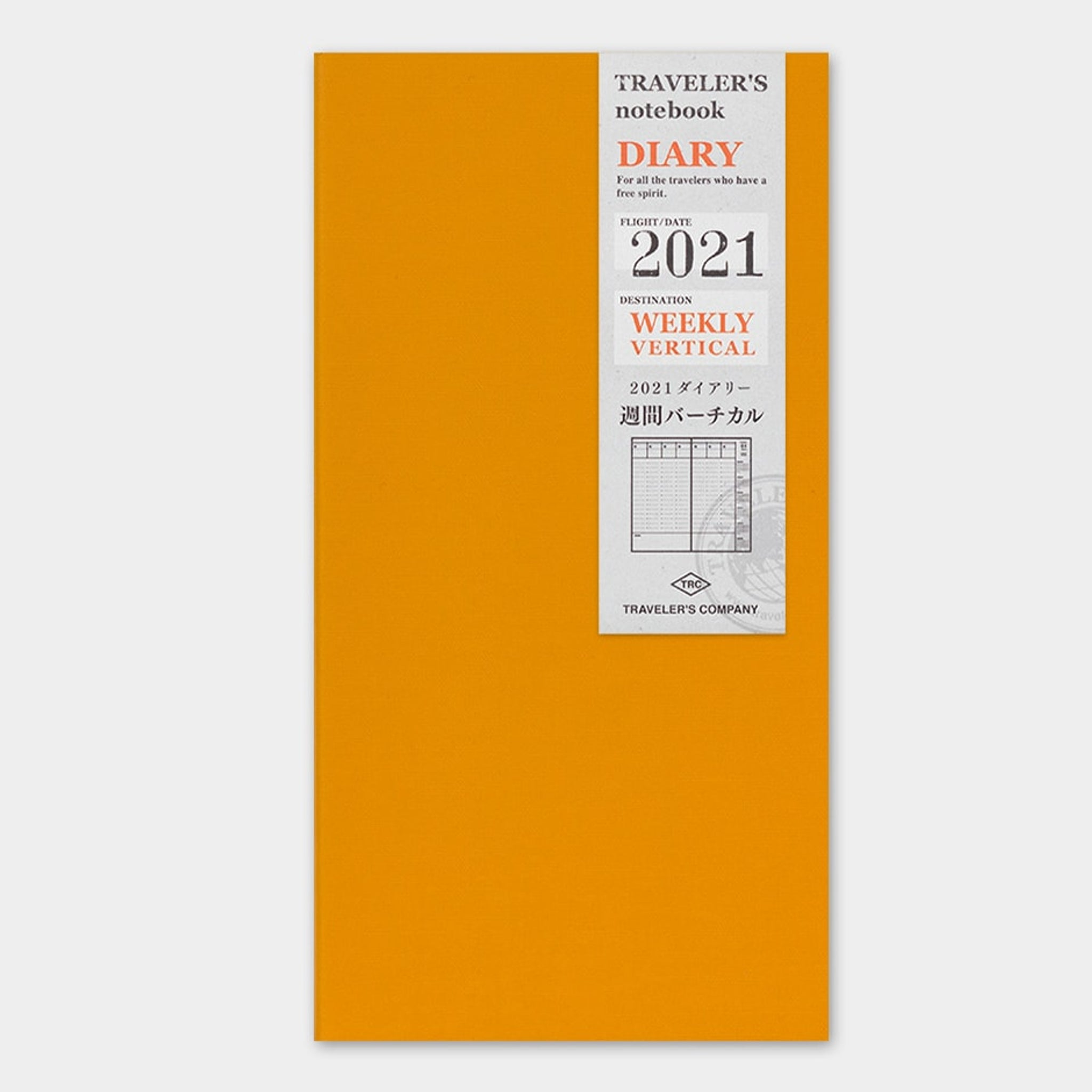 Traveler's Notebook 2021 Refill (Regular Size) Weekly Vertical