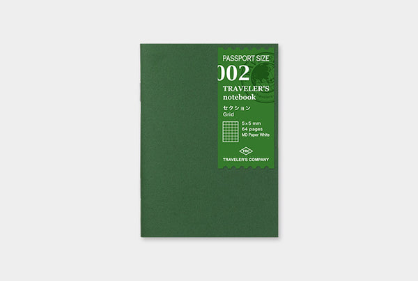 Traveler's Notebook Refill 002 (Passport Size) - Grid | Washi Wednesday