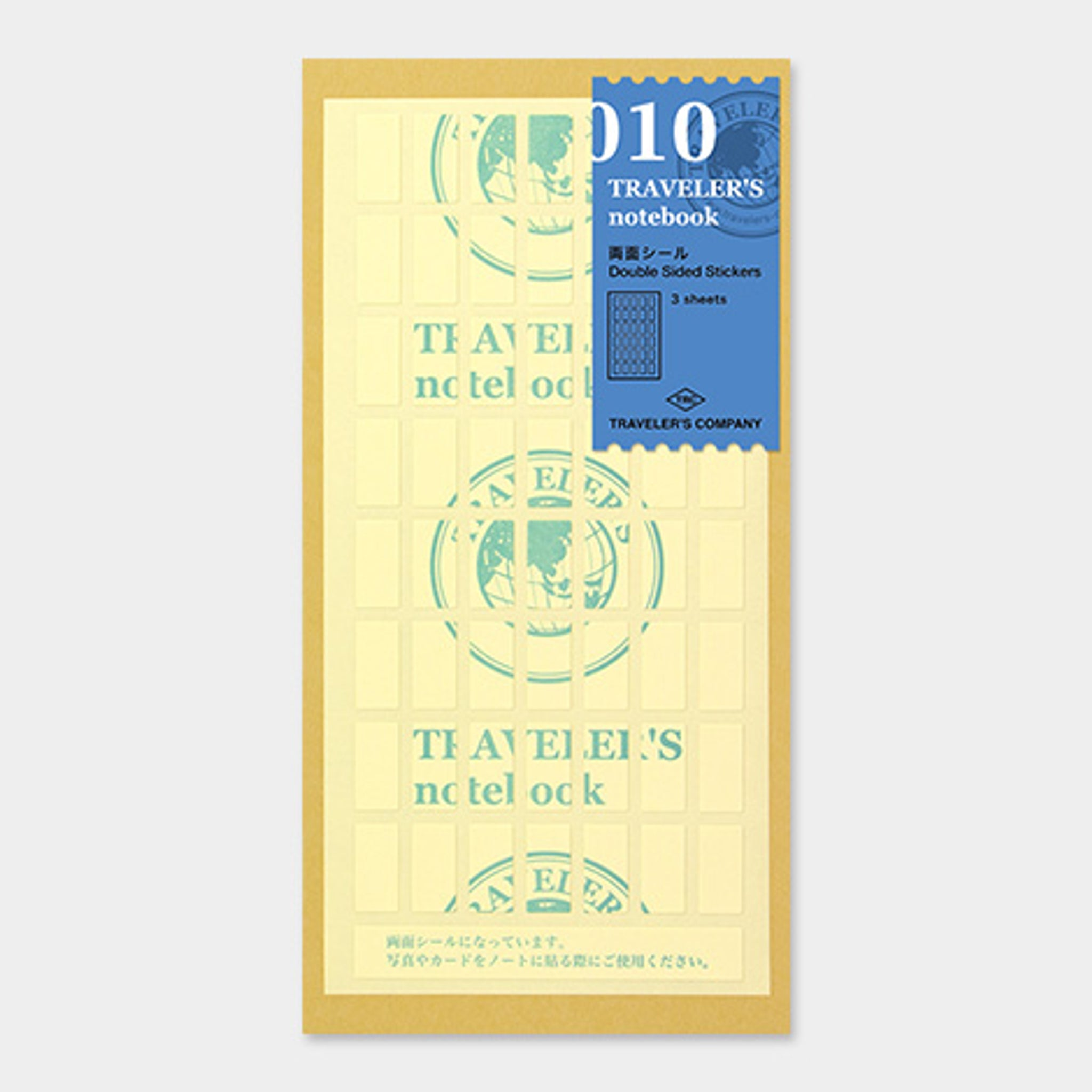 Traveler's Notebook Refill 010 (Regular & Passport Size) - Double Sided Sticker