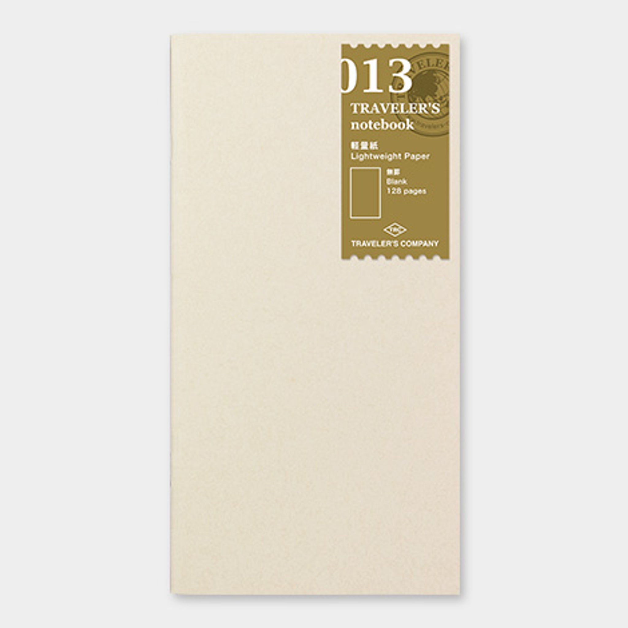 Traveler's Notebook Refill 013 (Regular Size) - Lightweight Paper