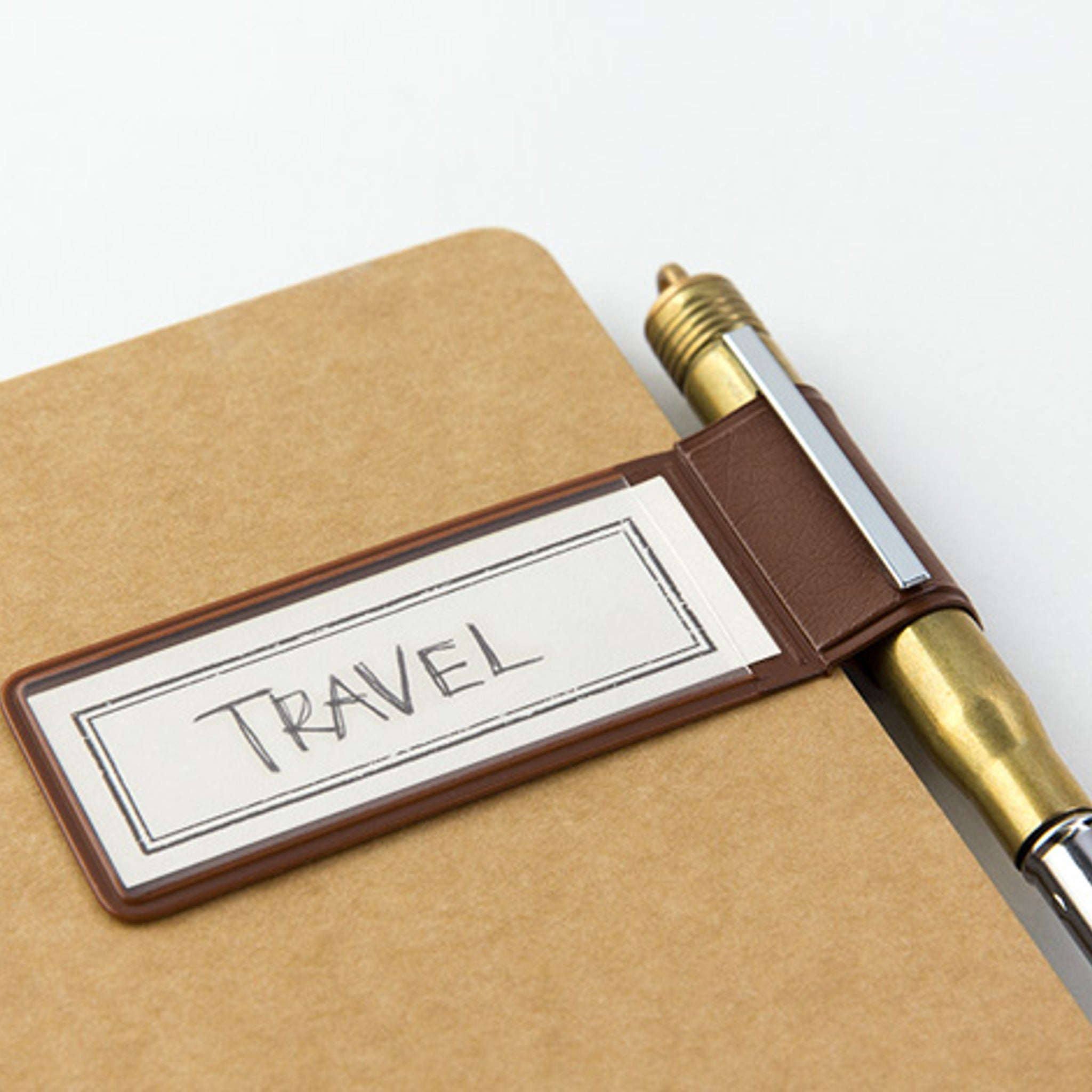Traveler's Notebook Refill 024 (Regular & Passport Size) - Pen Holder Sticker Brown